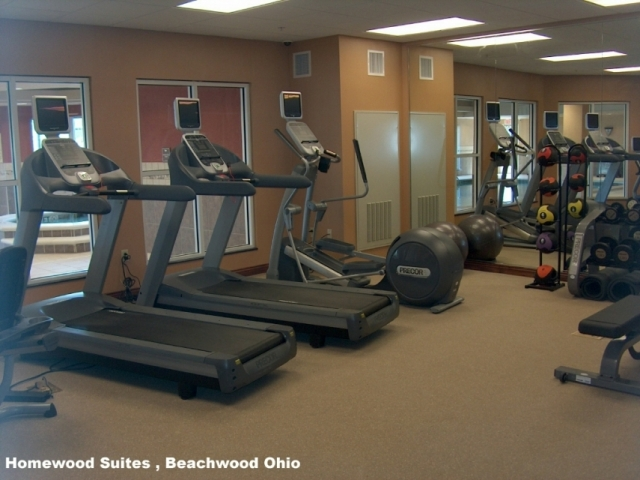 Hotel Fitness Facility at Homewood Suites - Beachwood, OH 44122